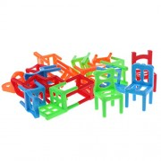 MagiDeal Chairs Stacking Tower (18 Pieces) Balancing Game Family Board Games for Kids Adults