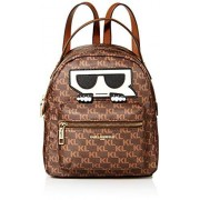 Karl Lagerfeld Paris Women's Amour Small Backpack, Brown/Khaki, One Size