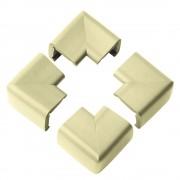 Clevamama Set 4 pernute protectoare colturi mobilier -Bej