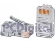 Kit de 100 conectores plug RJ45 Categoria 5 para cable UTP