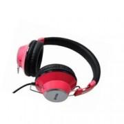 Слушалки Maxell Retro DJ, 38мм говорители, дълбок бас, 1.3м кабел, 6.2мм адаптер, розови