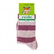 Rede Junior bézs piros csíkokkal gyerek zokni