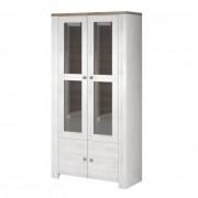 Háromoldalú vitrín szekrény W1D, tölgyfa lefkas, NEVADA 2