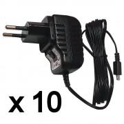 Micro USB Tápegység, töltő, 10 db-os csomag, 5 V, 1,2 A , 1,7 m kábel, TENWEI TAV010501200HU