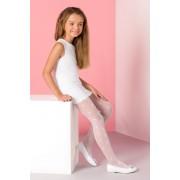 Liza lányka harisnyanadrág fehér 140-146