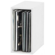 Glorious Record Storage Box 55 White