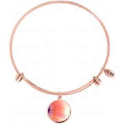 CO88 Collection Elemental 8CB 11033 Stalen Armband met Hangers - Gerbera Ø 20 mm - One-size - Rosékleurig