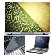 FineArts Laptop Skin Abstract Series 1085 With Screen Guard and Key Protector - Size 15.6 inch