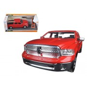 """2014 Dodge Ram 1500 Pickup Truck Red """"Just Trucks"""" With Extra Wheels 1/24 By Jada 97224"""