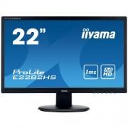 Monitor iiyama E2282HS-B1, 22'', TN, FullHD, 1ms, 250cd/m2, 1000:1, 16:9, VGA, DVI, HDMI, repro