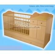 Kinder Möbel Bogi Kombi ágy 60x120cm (4 csomagos) #juhar