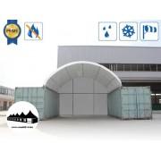 Hátsó fal 8m széles konténer fedéshez / 720g/m2 PVC / Fehér