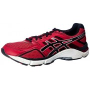 ASICS Men's Gel-Foundation 11(4E) Chinese Red, Onyx and Silver Mesh Running Shoes - 6 UK