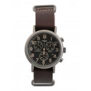 メンズ TIMEX TW2P85400 WEEKENDER CHRONO 40 mm 腕時計 ダークブラウン