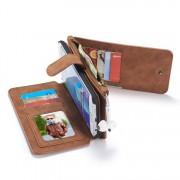 Samsung Galaxy S6 Edge Leren portemonnee hoesje met uitneembare telefoon case