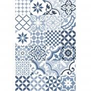 Floorart Tapis vinyle Adèle bleu - 50x100 cm