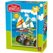 Puzzle King - Funny Vehicles, 35 piese (05775-C)