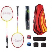 Li-Ning Combo of XP807 Badminton Racquet 2 Pcs Kit Bag Grips 3 Other Items