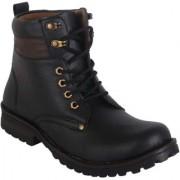 Men's Black Lace-up Boots