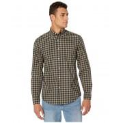 JCrew Slim Stretch Secret Wash Shirt in Organic Cotton Gingham NavyOlive