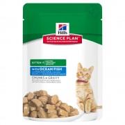 6х85г Kitten Healthy Development Hill's Science Plan, консервирана храна за котки с морска риба