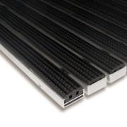 Gumová hliníková čistící venkovní vstupní rohož Alu Standard - 100 x 150 x 1,7 cm (80001232) FLOMAT
