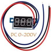 E8 Portable Digital Voltmeter DC0-200V Red LED Panel Voltage Meter with 3 Wires