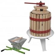 Sonata Преса за плодове и вино + дробилка, комплект от 2 части