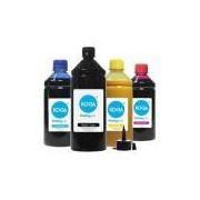 Kit 4 Tintas Sublimáticas Para Epson L395 Black 1 Litro Coloridas 500ml Koga