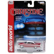 Autoworld Aw6401 1958 Plymouth Fury Christine Diecast Car Model For 1-64 Scale