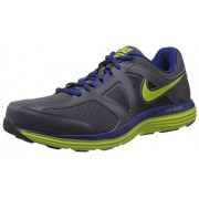 Nike Men's Dual Fusion Lite 2 Msl Dark Grey,Venom Green,Deep Royal Blue,White Running Shoes -11 UK/India (46 EU)(12 US)