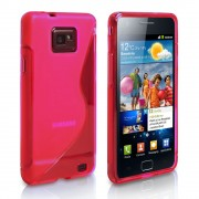 Hot Pink S Line Samsung Galaxy S2 i9100 TPU Gel Silicone Case Cover