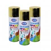 Pachet 3 bucati - Vopsea spray, Sep chrome, bronz auriu, 400 ml
