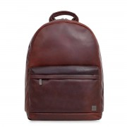 Knomo Albion Leather Laptop Backpack Brown 15 inch