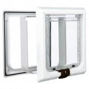 TRIXIE Priechodné 4-cestné dvierka pre mačky, XL, 24x24 cm, biele, 3867