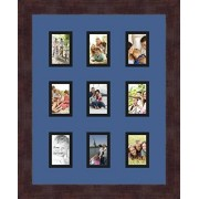 Arte a marcos doble-multimat 78-836/89-FRBW26061 alfombrilla de fotos con Collage enmarcado alfombra doble con 9-2 x 3 aberturas y café exprés marco