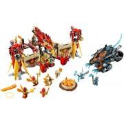 Set 70146 - Legends of Chima: Flying Phoenix Fire Temple zonder doos- gebruikt