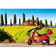 Puzzle Educa - Scooter in Toscana, 1500 piese, include lipici puzzle (17121)