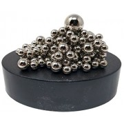 Clout Magnetic Sculpture Desk Toy for Intelligence Development and Stress Relief (Set of 160 Balls, 1 Magnet Base)