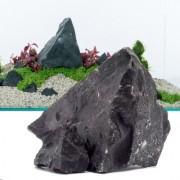 Černá skála - 80 cm sada: 11 přírodních kamenů, cca. 8 kg