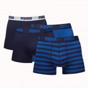 Puma 4-Pack Combi Basic/Stripe Blauw-M