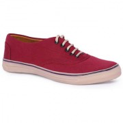 Blinder Mens Red Lace-up Sneakers