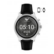 メンズ EMPORIO ARMANI CONNECTED Touchscreen Smartwatch スマートウォッチ ブラック