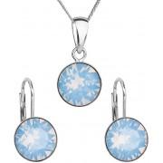 Evolution Group Stříbrná souprava šperků 39140.7 blue opal (náušnice, řetízek, přívěsek)