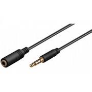 hbb Förlängningskabel för headset 3.5 mm 3 meter Svart