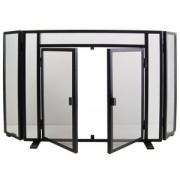 10405 Salvachispas plegable con puertas negro