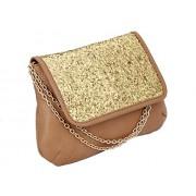 Desi Drama Queen (Party Slings-Biege) Women's Sling Bag -Beige & Gold