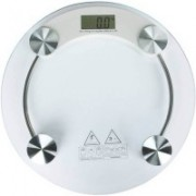 Rorian Personal Health Human Body Weight Machine Digital (2003A) 8mm Round Glass Weighing Scale(White)