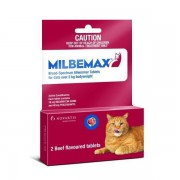 Milbemax Wormer For Cats more than 4.4lbs (2kg) - 2 Tablets