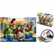 Двулицев пъзел - Играта на играчките с включени флумастри, 32914 Lisciani, 8008324032914